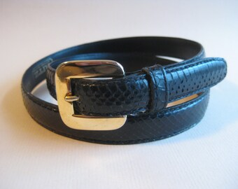 Vintage Genuine Snakeskin Belt by The Ritz Accessory Collection