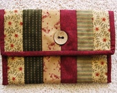 Strip Quilted Clutch / designer fabric / various uses
