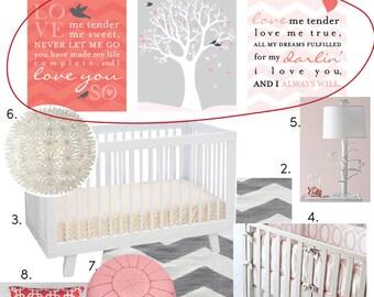Elvis, Love me Tender, Nursery / Kids Room Giclée Art Prints, 3 Print Set, Custom match colors to your nursery/room // N-G56-3PS AA1
