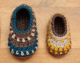 Crochet Pattern - Galilee Booties (Newborn to 24 mo)