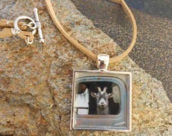 Goat Photo Pendant,
