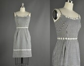 Vintage 1950s Dress / cotton dress / 50s Dress