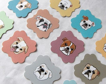 Bulldog Die Cut Collection - Eco-friendly Set of 12 - Scrapbooking Embellishment