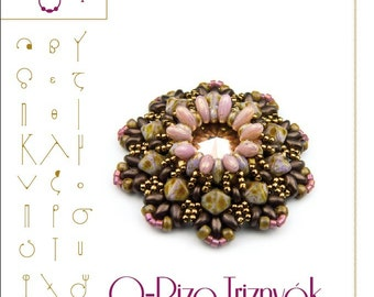 pendant tutorial / pattern O-Rizo pendant with Rizo beads ..PDF instruction for personal use only