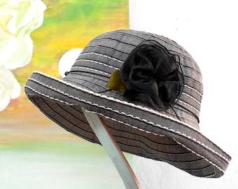 Best Seller!----SUN-Cruise-Summer-Resort-RIBBON Hat---grey/slate color....