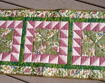 Spring Quilted Table Runner in Botanicals Prints