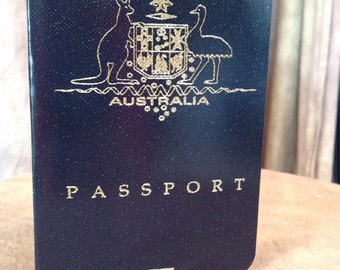 Australia Wedding Invitation, Passport wedding Invitation.