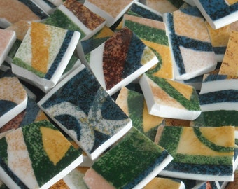 Abstract Design Mosaic Tiles cut from plates M13
