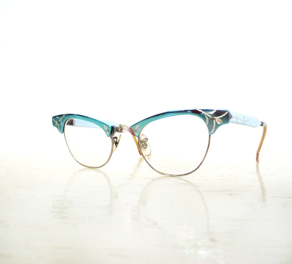 1950s Cat Eye Glasses / 50s Eyeglasses / Eyeglass Frames