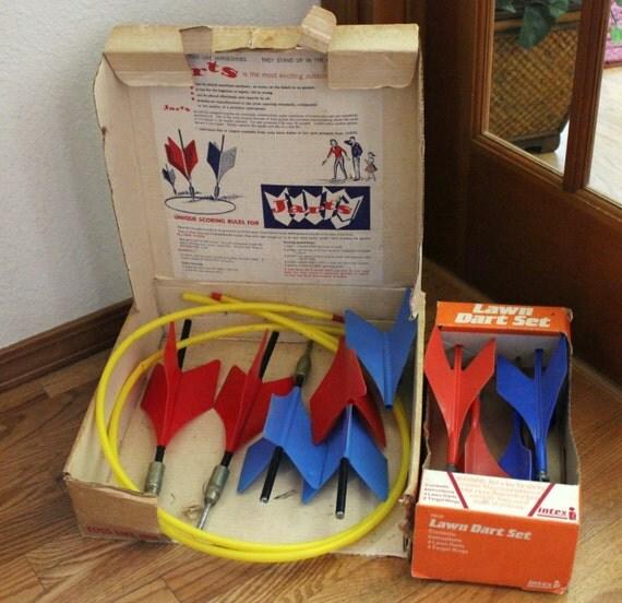 Vintage Jarts Lawn Yard Darts 1970s Missile Target Game Intex Outdoor Adult Fun