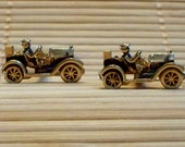 Vintage cufflinks. Antique vehicle cufflinks that make you want to go motoring. *Free Shipping.