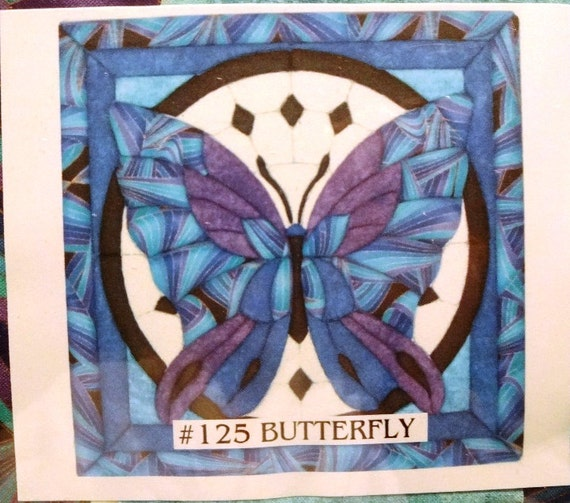Butterfly In Circle Quilt Magic No Sew Wall Hanging Kit