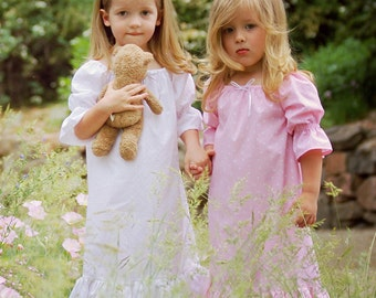 Pink Polka Dotted Night Gown  Girls sizes 2-8 Labor Day Sale August 31 - Sept 4