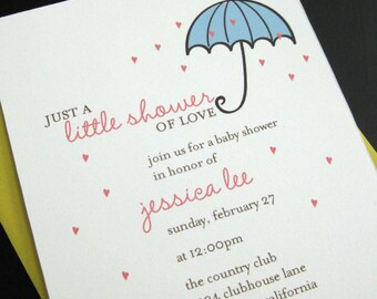 little shower invitation