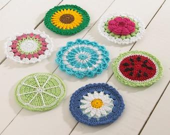 CD Coasters Set 1 Crochet Pattern PDF