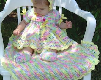 Springtime Baby Set Crochet Pattern PDF