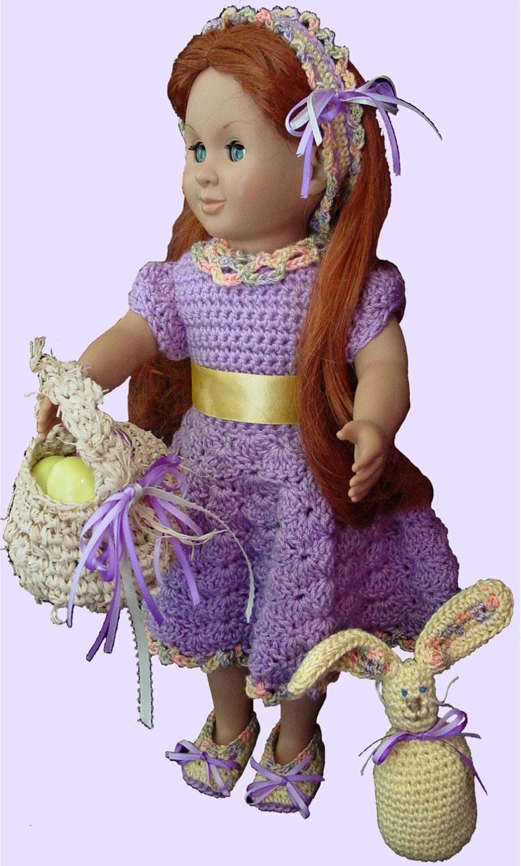 Ready for Spring for 18 Inch Dolls Crochet Pattern PDF