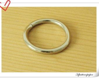 10 pieces of 1.25 inch (32mm) Nickel Metal Purse Split O rings U110
