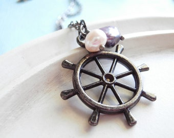 Ship Wheel Necklace - The Fisherman's Wife