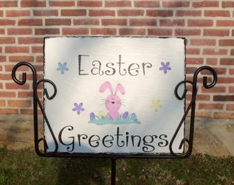 Personalized handcrafted Easter Slate