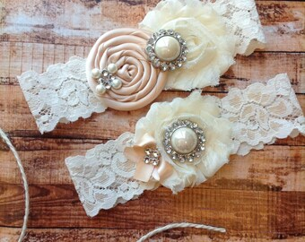 Wedding garter / Blush  /YOU DESIGN / wedding garters/ bridal  garter/  lace garter / toss garter / vintage lace garter