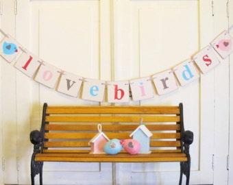 """Valentine Decoration """"lovebirds"""" Banner"""