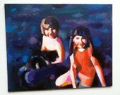 This is our dog Naiki / ORIGINAL PAINTING on canvas panel