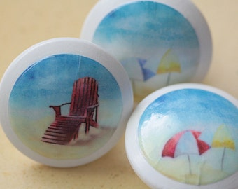 Two Umbrellas and a Adirondack Chair Door Pulls