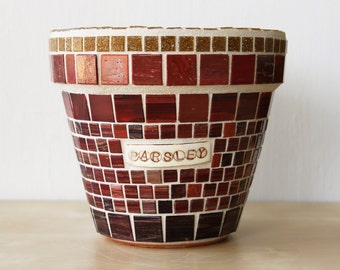 Parsley - Mosaic herb container