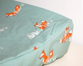 changing pad cover, custom ORGANIC contoured changing pad cover- pick your fabric- made to order