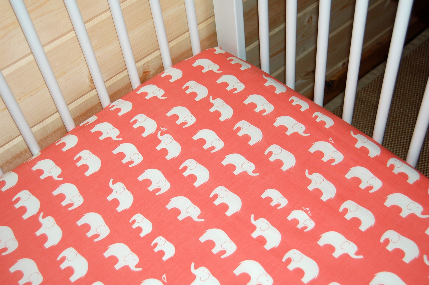 Baby bed sheet pattern - Coral And Teal Floral Crib Bedding Girl Baby Bedding Carousel Coral Elephant Crib Bedding