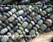 "Leland Blue Stone Beads in ""Beach mix"" -LAKE GEMS- not Petoskey stones"