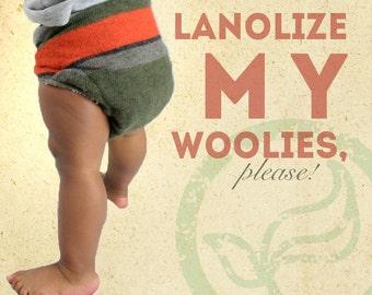 Lanolize Option - Lanolin Treatment for Wool Diaper Covers - Organic Pharmaceutical Grade Lanolin