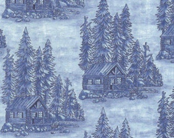 WOODS, WILDLIFE and WATER outdoor nature fabric.