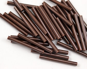 50 Copper Tube Spacer Beads 20x2 Mm    K189