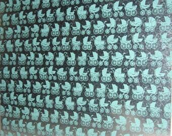 Buggy ..Magnet Dry Erase Steel Memo Board / baby shower / nursery decor / wall decor / organization / office decor / message board / shower