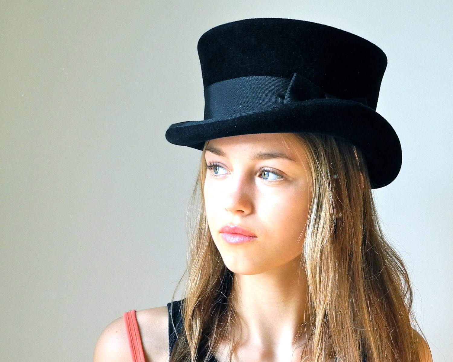 top hat black top hat hat by katarinahats