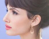 Large Lola Earrings, bridal wedding flower posts studs, woodland botanic jewelry