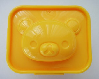 San-X Rilakkuma Relax Bear Face Egg Mold / Mould To Make Rilakkuma Bear Shaped Boiled Eggs