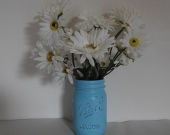 2 mason jars rustic wedding centerpiece reception beach wedding spring Easter decor 26 colors