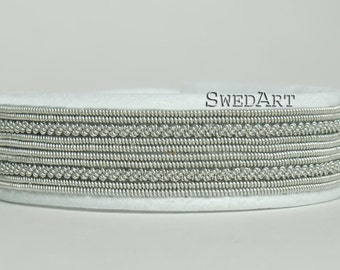 SwedArt B33 Ume Leather Bracelet with Antler Button White X-SMALL