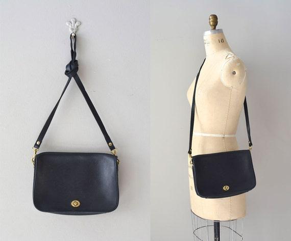 black bag / black leather shoulder bag / leather bag / Temley bag
