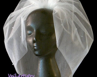 Bridal Veil, Bubble Veil, Sparkly Veil, Full Veil, Bouffant Veil, Crystal Veil, Made-to-Order Veil, Vintage Inspired Veil, Bespoke Veil