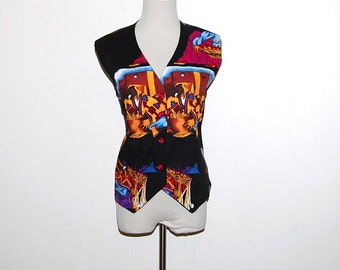 Vintage Vest Native Tribal Landscape