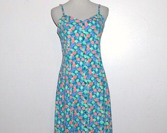 Vintage Dress Seashells on Scooter Flirty