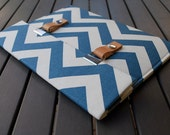 11 MacBook Air Case / 11 MacBook Air Cover / Padded 13 Macbook Case / Macbook Air Case / 11 Macbook Case - Chevron Blue Natural
