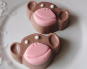Monkey Soap - Goat's Milk Soap - Scented Dark Chocolate - Gift for Her - Party Favor - Teen - Christmas - Novelty - Birthday - for her