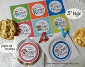 You're One Smart Cookie Tags / Kids Lunch /School Parties /Teacher Appreciation /Lunchbox Treats /Positive Reinforcement for kids