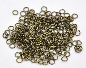 Antique Brass Jump Rings - 5mm - 120 piece bag - #JR109