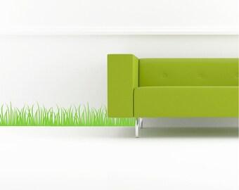 Grass Set of 2 Customizable Wall Decal vinyl lettering sticker